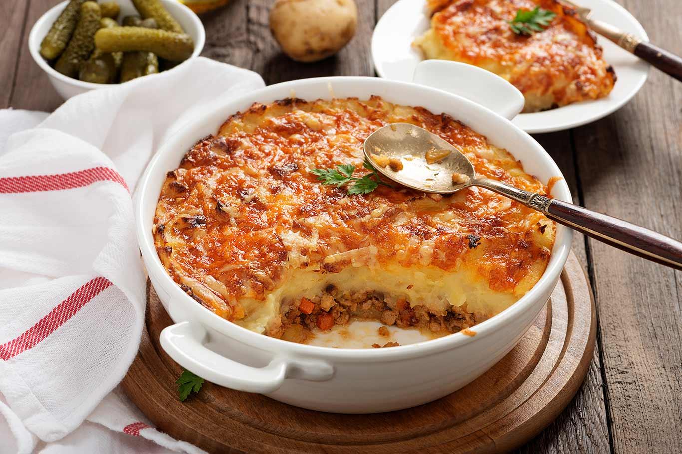 Receta de Puré de patatas con carne picada