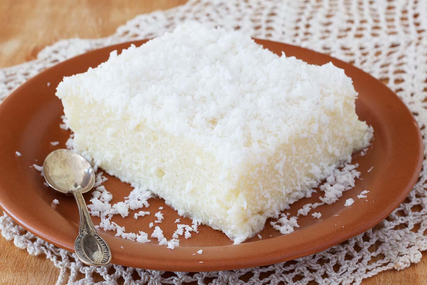 Receta de bizcocho de coco