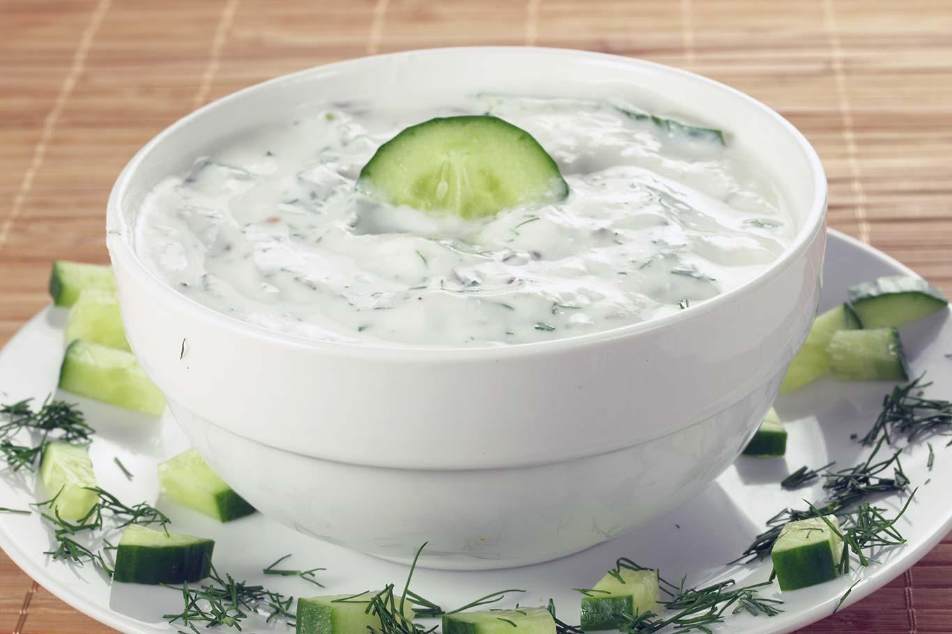 Receta de salsa de yogur y pepino