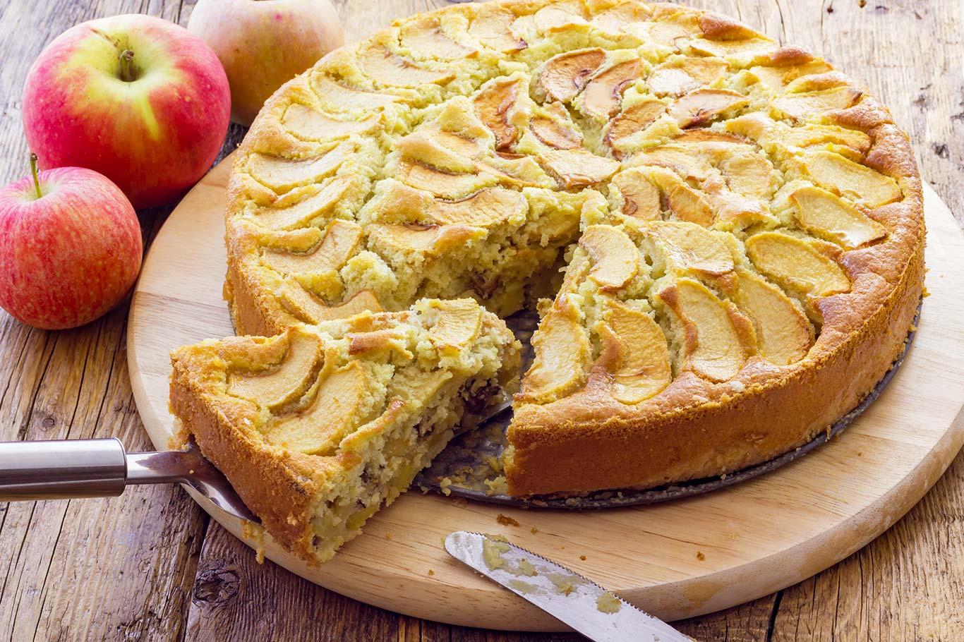 Receta de tarta de manzana al microondas