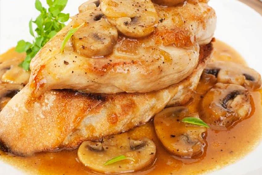 Receta de pechugas de pollo a la sidra