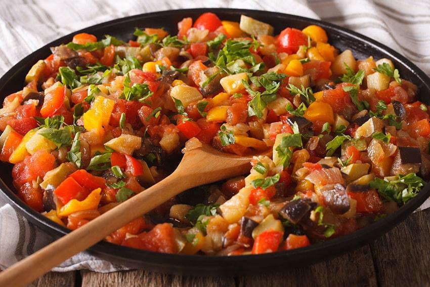 Receta de pisto de verduras