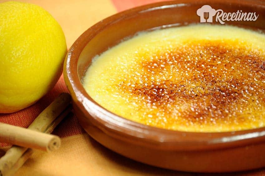 Receta de crema catalana casera