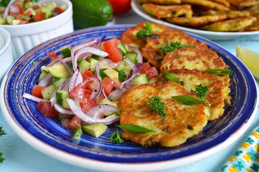 Recetas de tortitas de patata y pollo