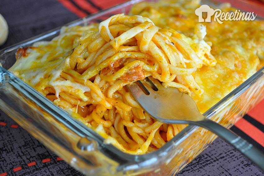 Receta de espaguetis con chorizo