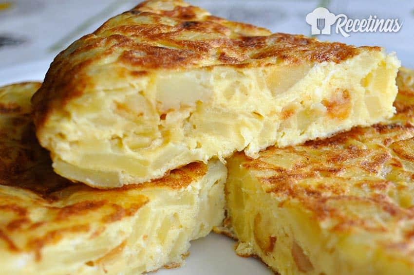 Receta de tortilla de patatas española