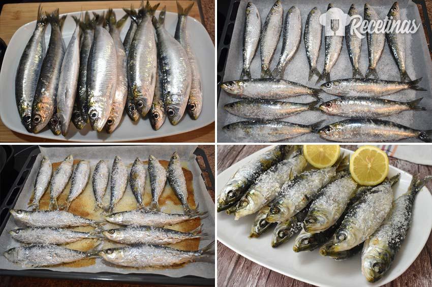 Asar sardinas en el horno.
