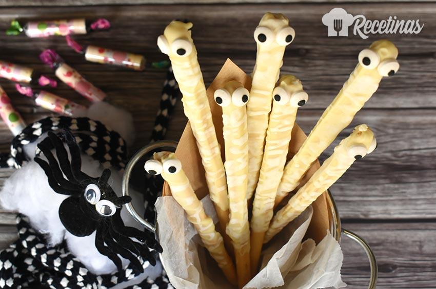 Receta de palitos momia para Halloween